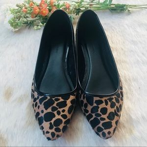 Banana Republic Leopard Calf Hair Flats